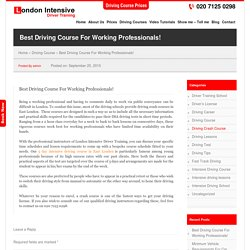 Best Driving Course For Working Professionals!