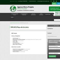 DRJSCS Pays de la Loire - Agence Micro Projets