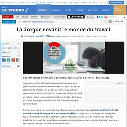 France : La drogue envahit le monde du travail