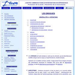 Drogues & Psychotropes / Centre l'Étape inc.