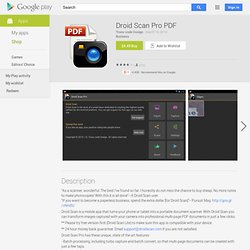 Droid Scan Pro PDF - Android Market