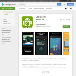 DroidCam Wireless Webcam – Apps on Google Play