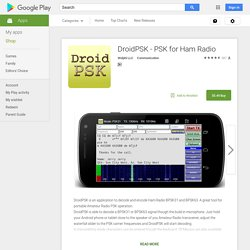 DroidPSK - PSK for Ham Radio