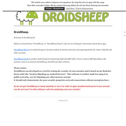 DroidSheep | Simple OpenSource Session hijacking on Android devices