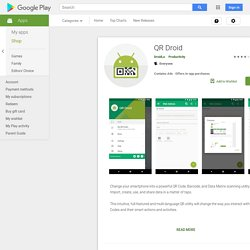 QR Droid - Apps on Android Market