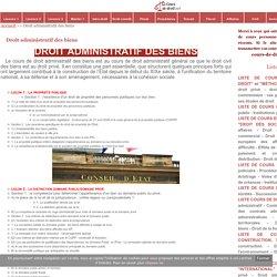 Droit administratif des biens - Cours de droit