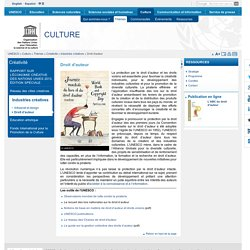 Site Unesco Droit d'auteur