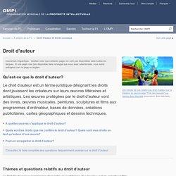 Droit d'auteur / site de l'OMPI : Organisation mondiale de la propriété intellectuelle