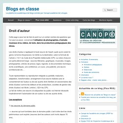 Blogs en classe