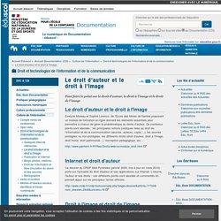 Le droit d'auteur et le droit à l'image — Documentation (CDI)