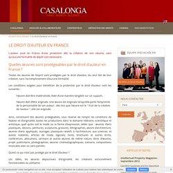 Le droit d'auteur en France - CASALONGA