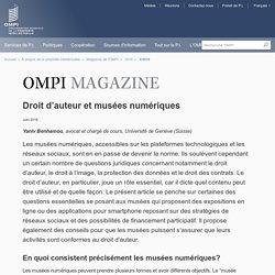Droit d'auteur et musées numériques