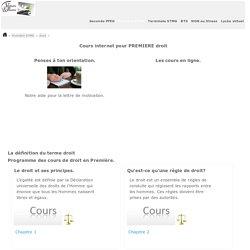 Droit COURS e-learning Première STMG.