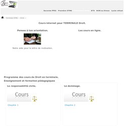 Droit COURS e-learning TERMINALE STMG.