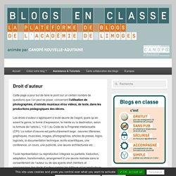 Droit d'auteur - Blogs en classe
