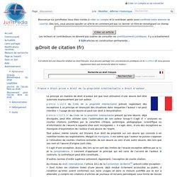 Droit de citation