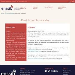 Droit de prêt livres audio