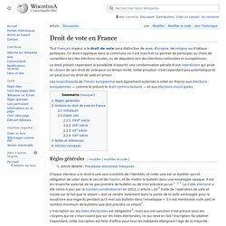 Droit de vote en France