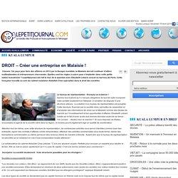 DROIT – Créer une entreprise en Malaisie !