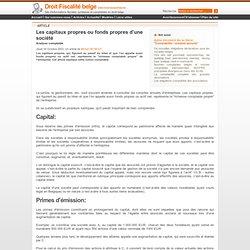 www.Droit-Fiscalite-Belge.com - Sociétés