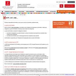 Droit à la formation : CPF, CIF, VAE, Plan de formation