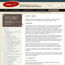 Savoirs CDI -Droit à l'image et droit de l'image
