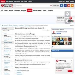 Le droit à l'image appliqué aux sites web