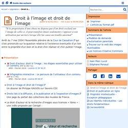 Droit à l'image et droit de l'image - Guide des auteurs des sites de l'académie