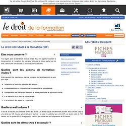 Le droit individuel à la formation (DIF)