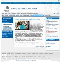 Droit d'accès à l'information publique
