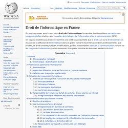 Droit de l'informatique en France