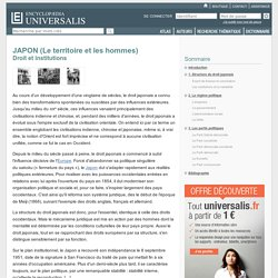Droit et institutions - JAPON