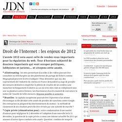 Droit de l'Internet : les enjeux de 2012