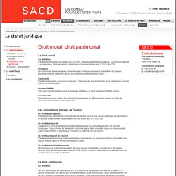 SACD - Droit moral, droit patrimonial