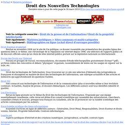 Droit des Nouvelles Technologies