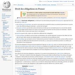 Droit des obligations en France