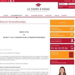 Droit civil - Personnalité juridique