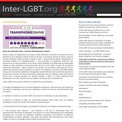 Droit des personnes trans