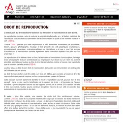 Droit de reproduction