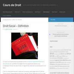 Droit Social – Définition - Cours de Droit
