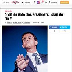 Droit de vote des étrangers : clap de fin ?