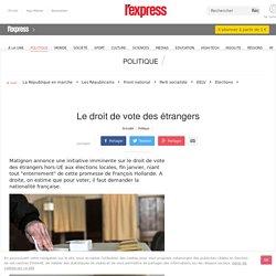 Le droit de vote des étrangers