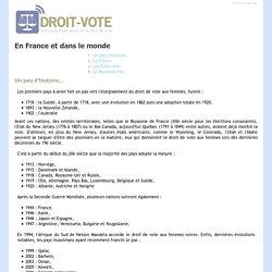 Droit de vote des femmes en France et dans le monde