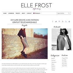 DIY Jupe Droite ⎥Patron gratuit téléchargable ⎥Elle Frost