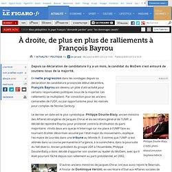 A droite, de plus en plus de ralliements à François Bayrou