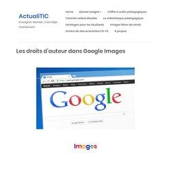 Les droits d'auteur dans Google Images – ActualiTIC