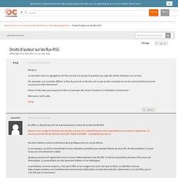 Droits d'auteur sur les flux RSS - Affichage d'un flux RSS sur un site web by kreig