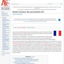 Droits d'auteur des journalistes (fr) - La GBD
