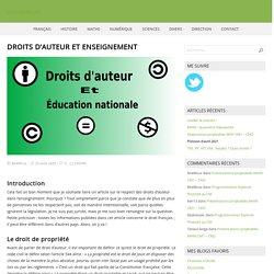 Droits d'auteur et enseignement – La classe de Loïc