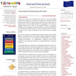 Les droits d'auteur pour les nuls - Journal d'un avocat